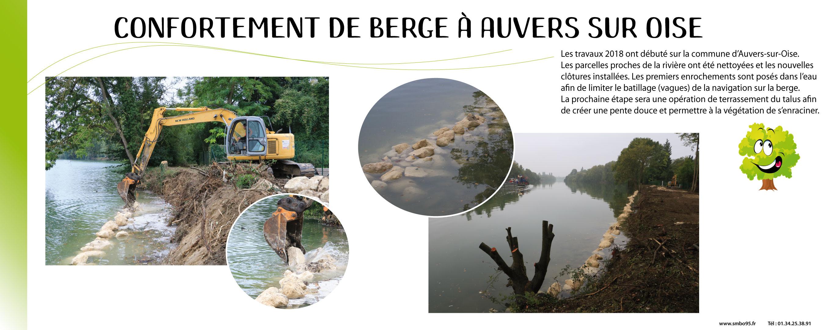 confortement de berge à Auvers sur Oise
